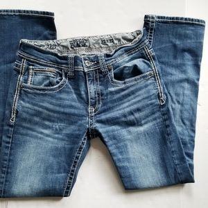 Men's Buckle Slim Fit Straight Leg Jean 32x32